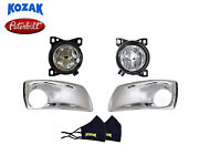 Fog Lights Lamps And Chrome Bezels Pair Lh Rh With Bulbs For Peterbilt 579 587