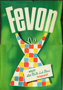 Original Vintage Poster Fevon Laundry Detergent Clothing Clean Germany 1950s Fun