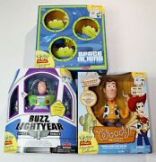 Toy Story Talking Sheriff Woody Buzz Lightyear Aliens Lot Signature Collection