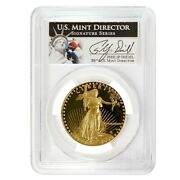 1987 W 1 Oz 50 Proof Gold American Eagle Pcgs Pf 70 Dcam Philip Diehl Sign