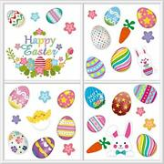 Decorations Bunny Window Clings Decor,window Cling Stickers For Home Easter