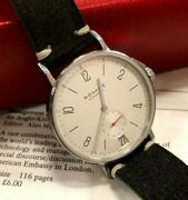 Nomos Ahoi Date - Excellent Condition Complete With Box And Papers