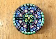Vintage Perthshire Art Glass Paperweights Millefiori And Twisted Canes Pattern