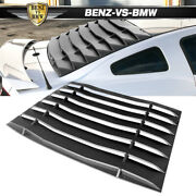 Fits 05-14 Ford Mustang Ikon Style Rear Window Louvers Sun Shade Abs Unpainted
