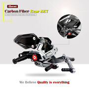 Cnc And Carbon Fiber Adjust Rearset Footrest Footpegs Pegs For Bmw S1000rr 15-18