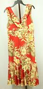 Giorgio Fiorlini Womens Ladies Red Floral Sleeveless Dress Size Large