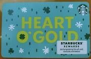 Starbucks Gift Card 2020 Heart Oand039 Gold St. Patricks Day Card 🔥 No Value