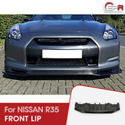 For 09-12 Nissan R35 Early Nis Craft Style Carbon Front Lip Under Splitter Kits
