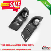 For 98-05 Is200 Altezza Sxe10 Gxe10 Cs Style Carbon Front Bumper Brake Duct Kits