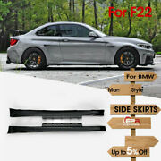 Frp Fiber Wide Body Side Skirts Exterior Kits For Bmw 2 Series F22 Manhart Style