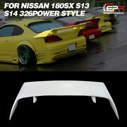 For Nissan 180sx S13 S14 S14a 326power Style Frp Unpainted Rear Spoiler Wing