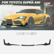 For Toyota 19+ Supra A90 T Type Trd Style Carbon Fiber Front Bumper Lip Body Kit