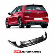 For Volkswagen Golf 7 Gti Oe Style Carbon Glossy Rear Bumper Diffuser Body Kit