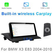 8-core Android 10 Car Gps Navi Video Player Wireless Carplay For Bmw X3 E83 2004