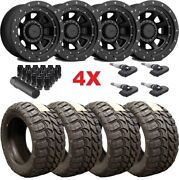 20x12 Xd Black Wheels Rims 33 12.50 20 Tires Gmc Sierra Fuel Rhino