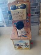 Vintage 1950s Cowboy Talking Ranch Phone 39r2 Gong Bell Toy