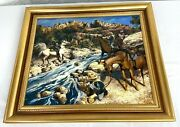 Us Army Indian Wars Cavalry Framed Giclee Print