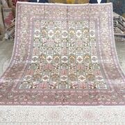 Yilong 8and039x10and039 Garden Scene Traditional Carpets Handknotted Silk Area Rug M272c