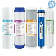 5 Stage Reverse Osmosis System Water Filter Ro Membrane Replacement Set 5-pack