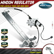 Power Window Regulator With Motor For Lincoln Town Car 1990-1994 Front Right Rh