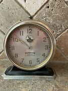Ingraham Eight Day Automatic Alarm Clock Art Deco Looking Working