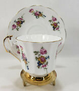 Royal Victoria Fine Bone China Multi-color Flower Pattern Tea Cup And Saucer