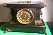 Antique E.n.welch Blachie Style 8 Day Clock -works, L- F38