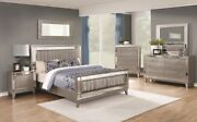 Coasters Furniture Leighton Twin Glam 6 Piece Leatherette Girls Bedroom Set