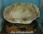 18natural Clam Tridacna Shell Carving Mountain Water Landscape Shanzi Statue
