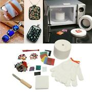 10x Large Stained Glass Fusing Supplies Professional Microwave Kiln Kit Tool
