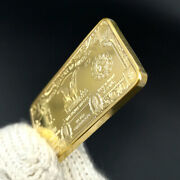 Gold One Troy Ounce American Eagle 100 Mills .999 Fine Plated Gold Bars
