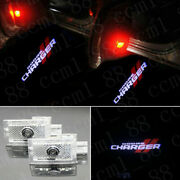 2x Cree Led Logo Door Step Courtesy Shadow Laser Light For Dodge Charger 2006-up