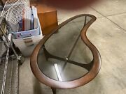 Lane Silhouette/adrian Pearsall-inspired Mcm Kidney-shaped Coffee Table
