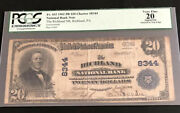 1902-20pb-the Richland Nb-pa-pcgs20. A Super Scarce Note From This County Of Pa