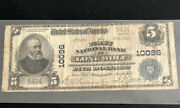 1902-5-the Fnb Of Lone Wolf Ok-in F Condition W/minor Tear. A Scarce Note.