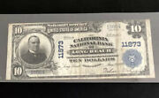 1902-10pb-the California Nb Of Long Beach-ca-in Vf Condition-a Rare Note Fr Ca.