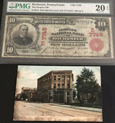 1902-10 Red Seal-the Pnb Of Rochester Pa-pmg-20 Epq. A Rare Note. Only 2 Known