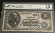 1882-5db-the Fnb Of Newton-ia-pmg 25-rareand Only 3 Known For This Denomination.