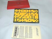 Vintage Crisloid And039top Gradeand039 Butterscotch Bakelite Dominoes With Plastic Case 28