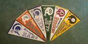 Vintage Football Pennants Great Condition Rams Dolphins Jets Redskins And Steelers