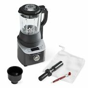 Pampered Chef Deluxe Cooking Blender 100125 And Smoothie Cup Adapter 100195