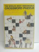 Springbok World's Most Remarkable Crossword Puzzle Jigsaw 500 Pc Condition Issue