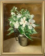 Exceptional 1943 Florence Julia Bach Female American Still Life Oil Painting