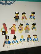 Lego Lot Of 13. Minifigures - Pirates With Weapons