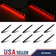 10pcs Red 11 Led 15 Rv Trailer Truck Stop Turn Tail Brake Light Bar Smoke Lens