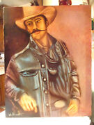 Original William Verdult Oil Painting Ranch Hand Signed /certificate