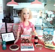 Barbie Doll Sized Dominos Pizza Fast Food Restaurant Play Set Toy