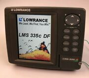 Lowrance Lms-335c Df Depth Fish Finder Sonar Gps Received Head And Sun Cover Only