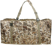 Auscamotek 12 Slot Duck Decoys Bag With Waterfowl Hunting Blind Camouflage Print