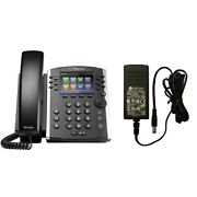 Polycom Vvx 410 12-line Mid-range Business Media Phone With Power Adapter
